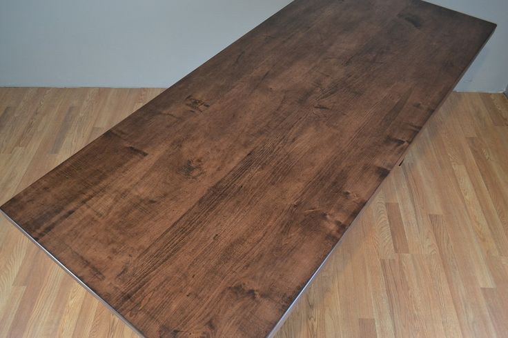 Custom Solid Wood Table Top Specify Your Own Dimensions And Stain Made To Order Made In Usa