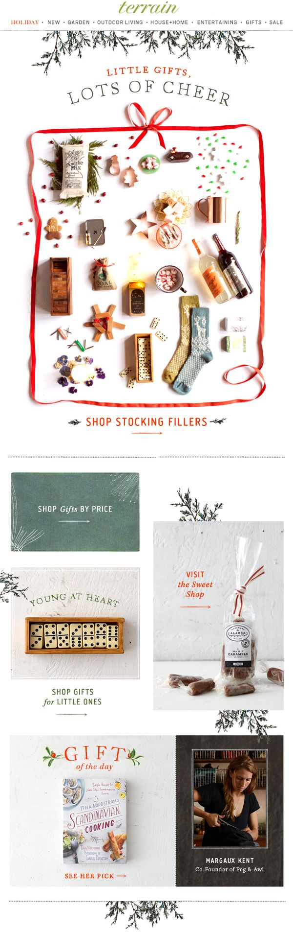 Little #gifts with lots of cheer-- see all our favorite #stocking #stuffers at #shopterrain December 8