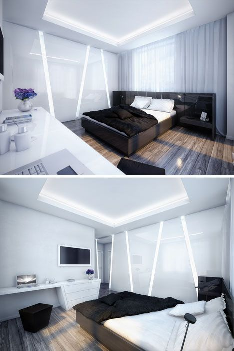 Futuristic Bedroom Interior Design