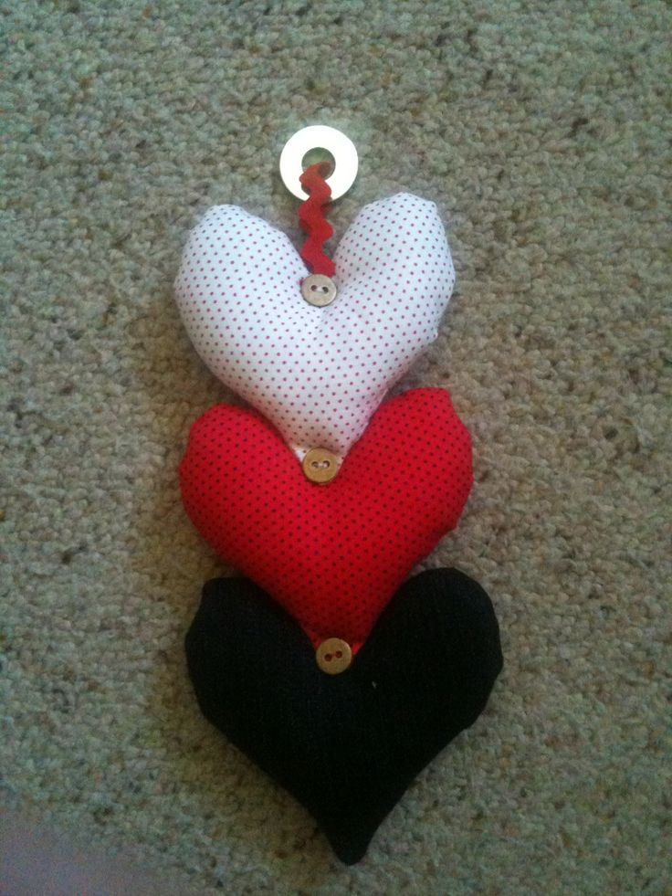 Heart hangers. 5 made for 5 special friends