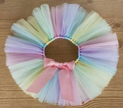 Awesome Colorful Baby Girls Tutu Skirts Infant Handmade Ballet Tutus Pettiskirt with Pink Ribbon Bow Newborn Birthday Party Skirts 1Pcs - $14.04 - Buy it Now!
