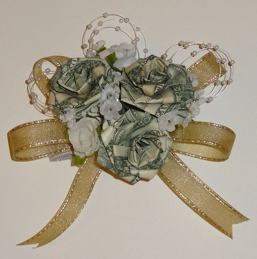 Origami Money Corsage for Wedding/ Anniversary/ by JAYLIdesigns, $28.00