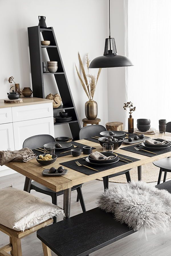Look Black Kitchen Westwing Home Decor Kitchen Home Decor Dining Table Decor