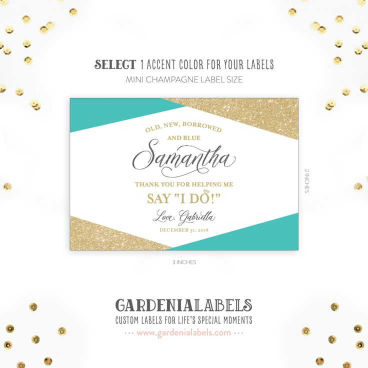 Thank your ladies for standing by your side on your big day with these adorable wine and champagne labels.  • Ordering instructions and details listed below. Scroll down to review.   : : : : : : : : : : : : : : : : : : : : : : : : : : : : : : : : : : : : : : : : : : : : : : : : : : : : : : : : : : : : :   LABEL SIZE:  • Mini Champagne bottle labels: 2 tall by 3 wide • Mini Wine bottle labels: 3 tall by 2 wide  • Looking for this label to fit a Regular 750mL Wine or Champagne bottle? You can…