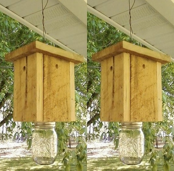 Carpenter Bee Traps! Walter Reeves says these work! Pair 2 of Carpenter Bee Traps  free shipping Go by LCsWoodtopia, $50.00