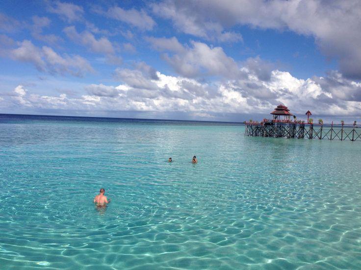 Clear crystal water at Maratua Island East Kalimantan