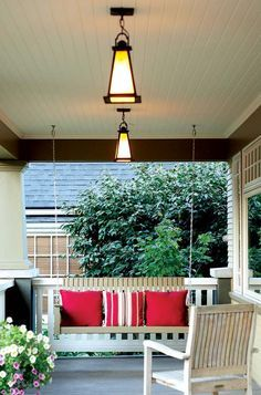 Cj Hurley Bungalow Porch With Lovely Craftsman Lights