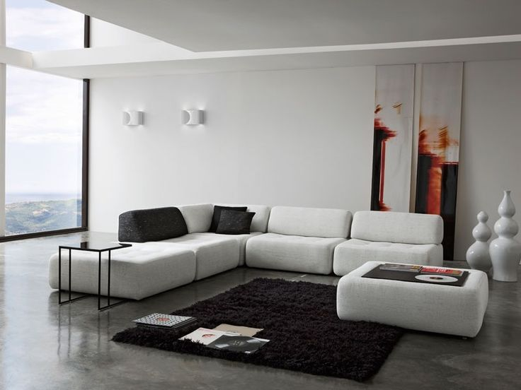 New Latest Sofa Design In White Contrast