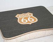 Bandeja de cama de madera portátil / bandeja de desayuno / iPad mesa / bandeja almohadilla portátil de verticales / servir bandeja ruta 66 jeans