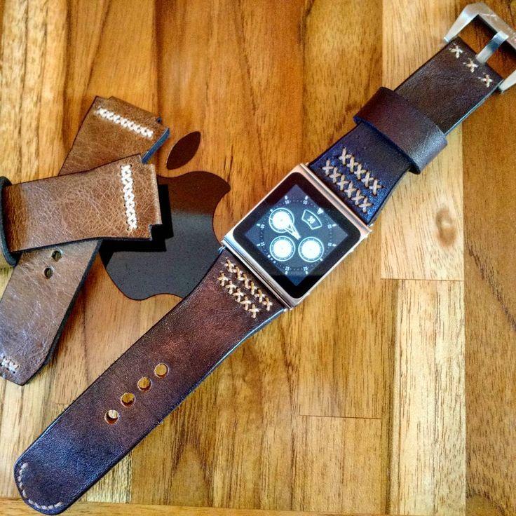 #applewatch  #apple  #ipodnano  #ipodnano6  #leatherstrap  #handmade  #manstyle