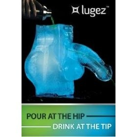 """Lugez """"Iceman"""" Ice Luge Mold, (drinking games, drinking, ice luge, party game, bachelorette, ice mold, luge)"""