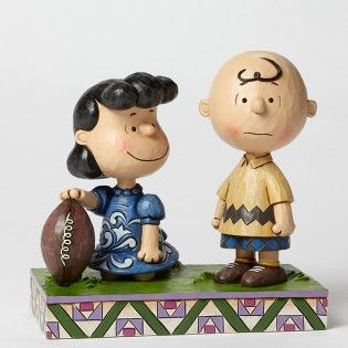 Jim Shore Peanuts Football Lucy & Charlie Brown