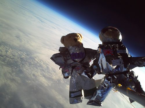 Teddies in Space - an outreach event by student society 'Cambridge University Spaceflight' that saw school children making space suits for teddies that were then launched into space.