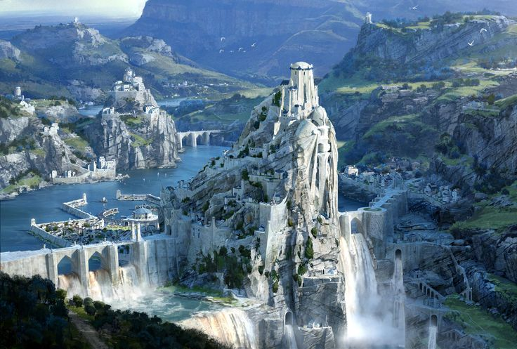5 Tursil, la segunda ciudad del agua en Rhengam. Cuando la primera ciudad del agua se inundó al acabar la guerra, los remasianos construyeron está ciudad en memoria de todas las personas que murieron en las batallas. Se conoce como la ciudad más bella.