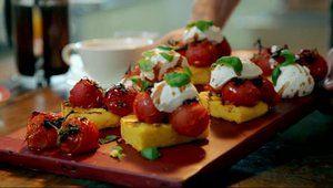 Les recettes de Gordon Ramsay : polenta grillée tomates et fromage de chèvre