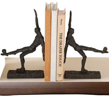 Soccer Kick Bookends transitional-bookends