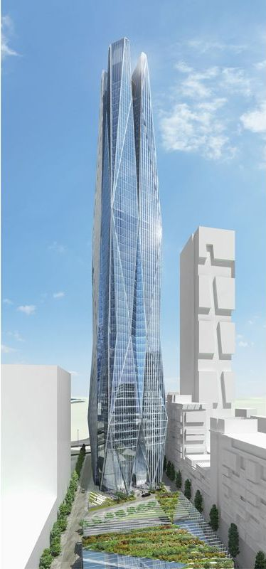 Faco Tower, Istanbul, Turkey by SOM Arhitects :: 58 floors, height 220m