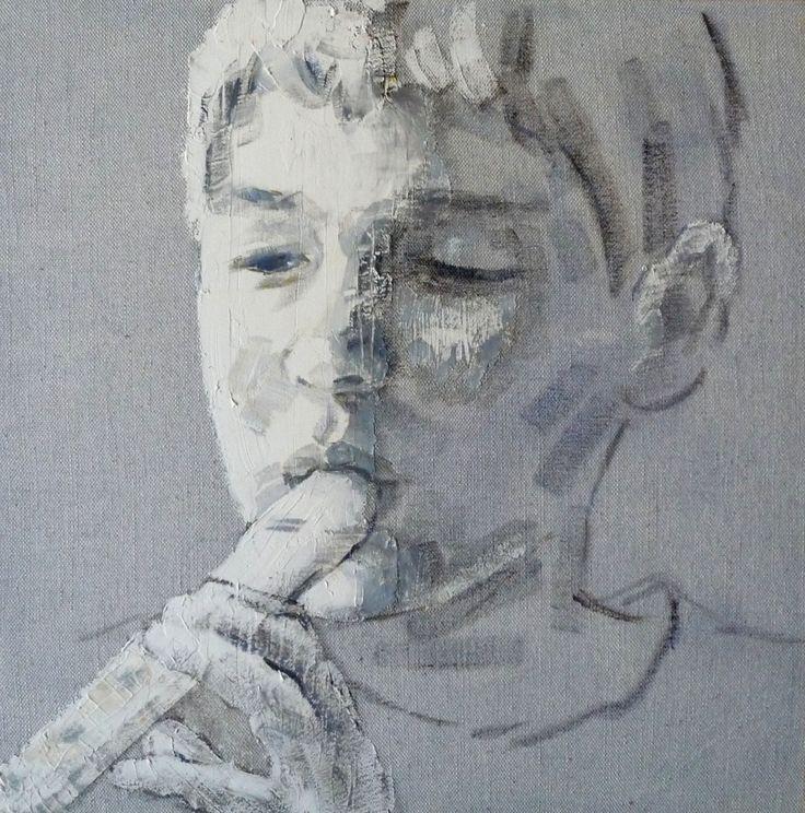 flautista  40 x 40  - M. Isabel Barros Alcalde