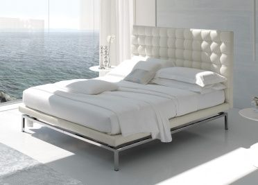 A well known classic upholstered bed the Alivar Boss bed will never go out of style, with it's beautiful buttoned headboard