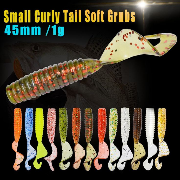 24pcs curly tail  fishing lure