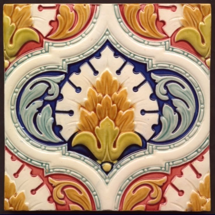 Exceptional Minton Majolica Tile