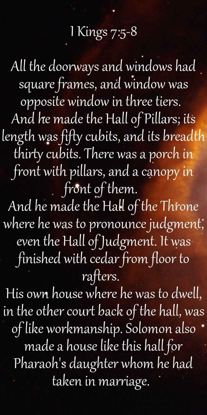I King 7 5 8 All The Doorway And Window Had Square Frame Wa Opposite In Three Tier Jpg Word Holy Spirit Scripture Art Psalm 19 11 Nkjv