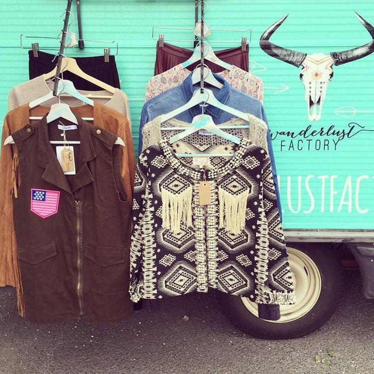 Inside the Wanderlust Factory mobile fashion boutique...  www.wanderlustfactory.com #fashiontrucks #fashiontruck #mobileboutique #boutiqueonwheels #gypsy #caravan #boutique #shopping #bohemian #diy #gypsyboutique #nomad #vagabond