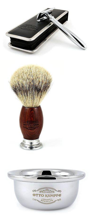 Shaving and Grooming Kits and Sets: Valentines Day Gift Men S Shaving Kit-Safety Razor-Silvertip Brush-Shaving Bowl -> BUY IT NOW ONLY: $54.99 on eBay!