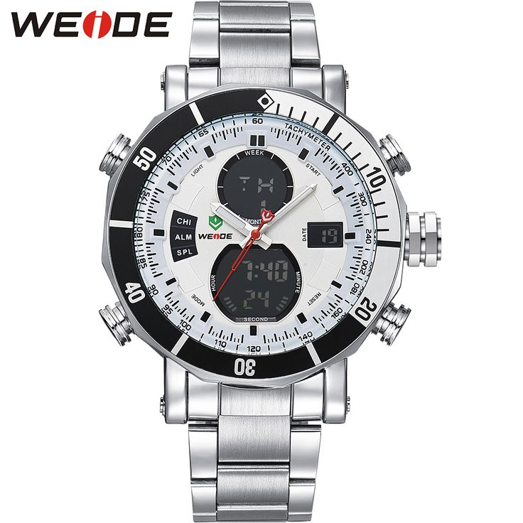 WEIDE Watches Men Military Full Stainless Steel Quartz Wristwatch Waterproof Multi-function LCD Analog Digital Men's Clock Gifts     Tag a friend who would love this!     FREE Shipping Worldwide     Get it here ---> https://shoppingafter.com/products/weide-watches-men-military-full-stainless-steel-quartz-wristwatch-waterproof-multi-function-lcd-analog-digital-mens-clock-gifts/