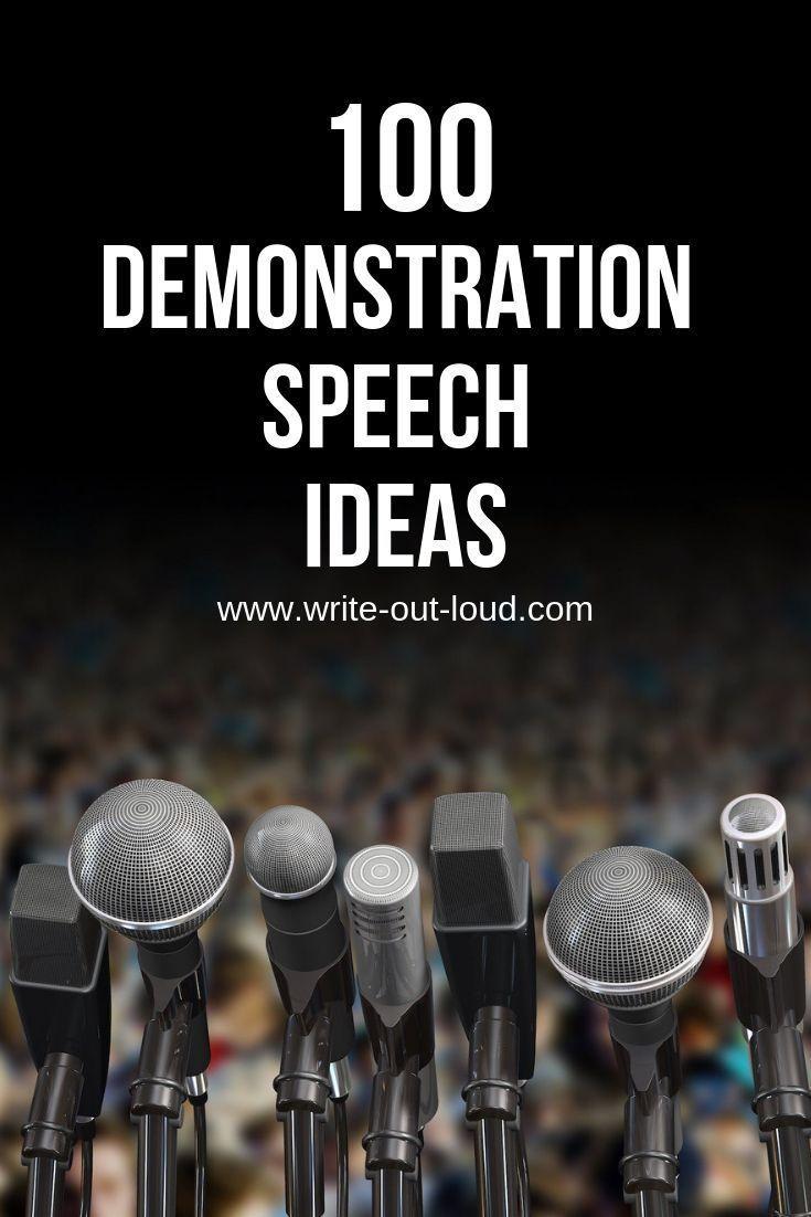 Demonstration Speech Topics Demonstration Speech Speech Topics Speech Writing Tips
