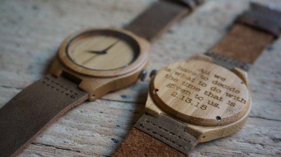 Bamboo wood Watch / Personalized Watch  by CreativeUseofTech