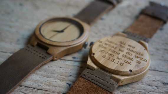 Bamboo wood Watch / Personalized Watch  by CreativeUseofTech