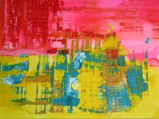 Abstract 80cm x 100cm oil and acryl paint on linnen canvas