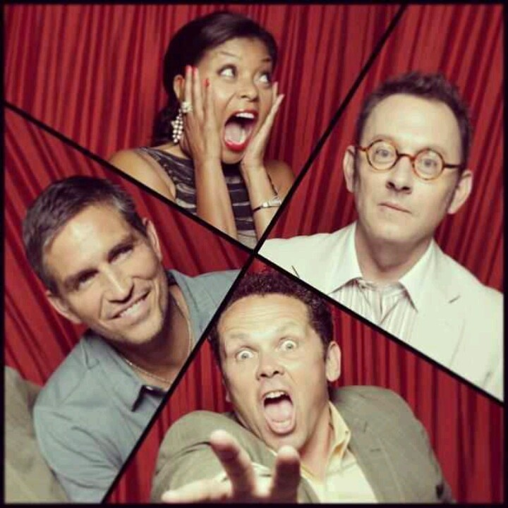 Person of Interest cast. Kevin's face is priceless.