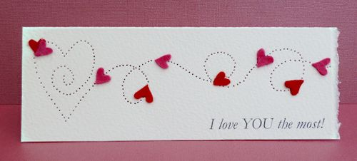 Paper Pierced Valentine's Card | All of me: Craft me Happy!: Paper Pierced Valentine's Card
