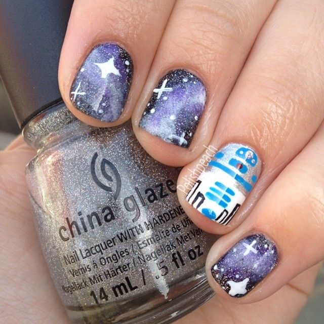STAR WARS by polishpeach #nail #nails #. Ehh. This is an ok design, not my favorite though.