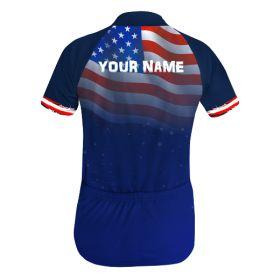 USA Koszulka Rowerowa z Własnym Nadrukiem