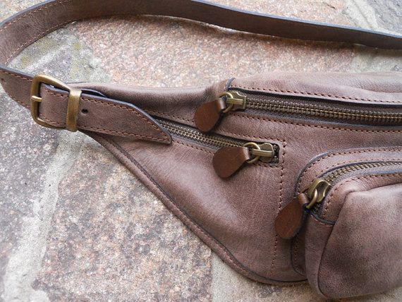 Variante Marrone. Marsupio in Pelle. Marsupio Vintage. Marsupio color di BlubellBags