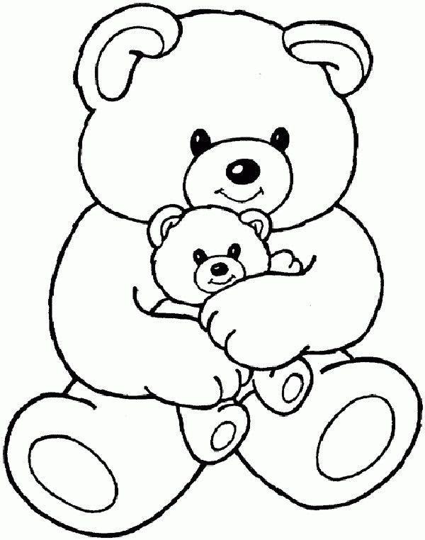 Teddy Bears Coloring Page Cartoon Coloring Pages In 2020 Teddy Bear Coloring Pages Teddy Bear Drawing Cartoon Coloring Pages