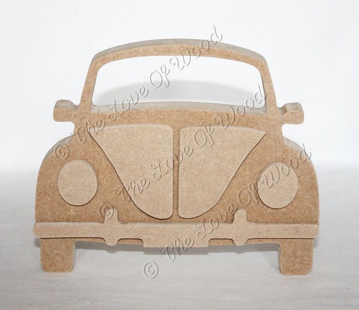 Free Standing 3D BEETLE MDF wooden craft shape 12mm & 18mm thick