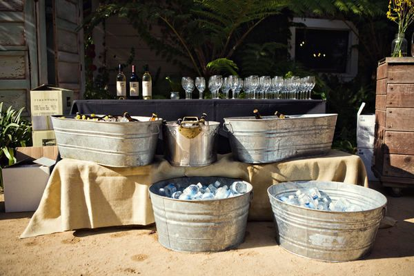 Refreshments... Since I want an outdoor wedding in the summer I want to do this with like water and some of our favorite drinks before people sit down for the ceremony! No passing out at my wedding! :)