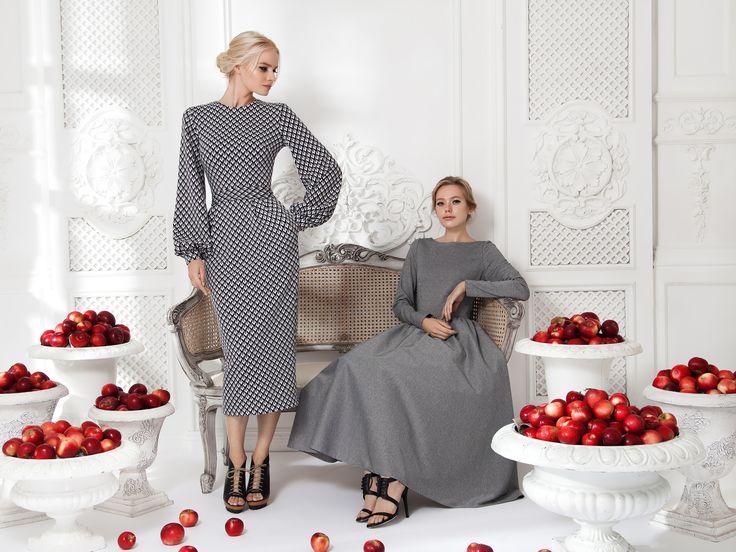 Платье «Лиля» серое — 18 990 рублей, Платье «Классика» серое — 23 990 рублей
