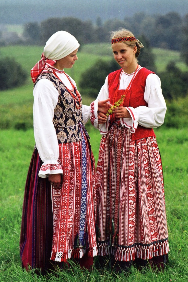 Zanavykai folk costume from Lithuania