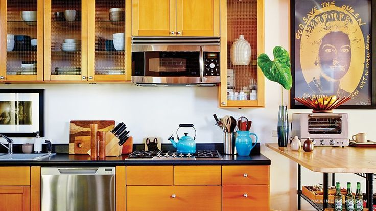 Brent Bolthouse incorporates a pop of color in his Venice kitchen