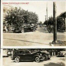 3 FOTOGRAFIAS DE UN ACCIDENTE DE COCHES EN LA HABANA (PRINCIPIOS DE LOS 50)