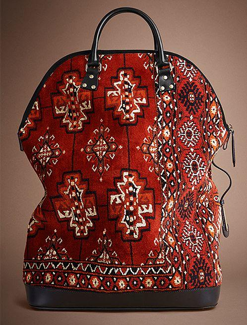 from Burberry, Nomadic Decorator | Trending: Carpet Bags | http://nomadicdecorator.com