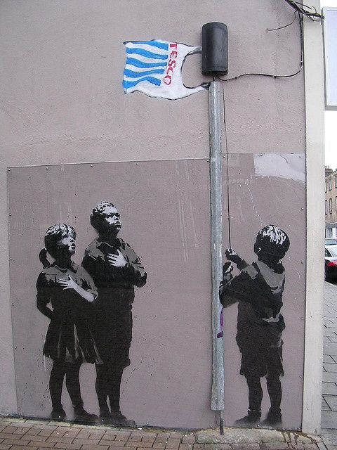 Banksy's statement.  By davidezartz: Environment Art, Plastic Bags, Flags, Figures Drawings, Banksy Graffiti, Street Art, Photo Book, Streetart, Graffiti Artists