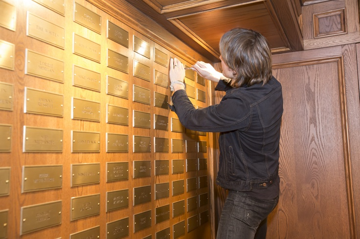 Keith screwed his @Grand Ole Opry plaque into the wall with a pocketknife Marty Stuart gave him for the occasion!