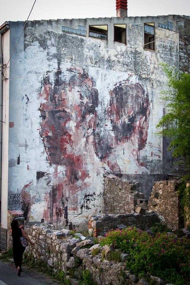 Street Art by Borondo - In Sapri SA, Italy