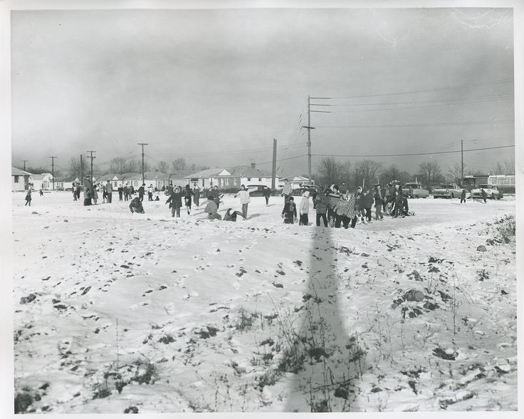 Parma Heights Ohio Dec 1958 Pearl Rd/Mandalay skating pond. Now Wendy's